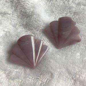 Marbled Purple Art Deco earrings